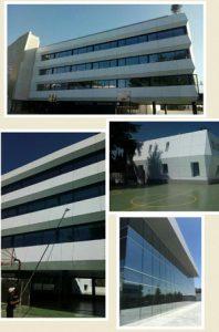 Limpieza de fachadas acristaladas y altura