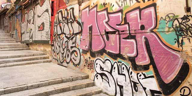 Pintadas y grafitis en madrid