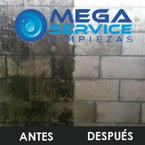 Limpieza de fachadas con agua a presion en Madrid