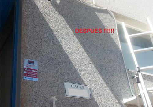 limpieza eficaz de grafittis en fachadas